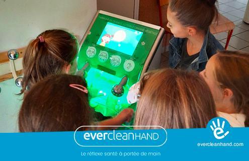 EverCleanHand équipe l'école de Venon