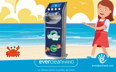 Borne de désinfection des mains pour les enfants EvercleanKIDS