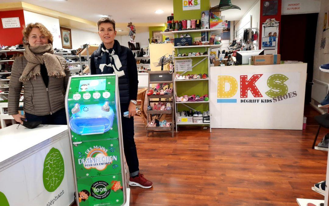 La boutique DKS Shoes à Grenoble assure la santé de ses clients avec EverCleanHand